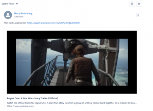Inline Videos in Chatter